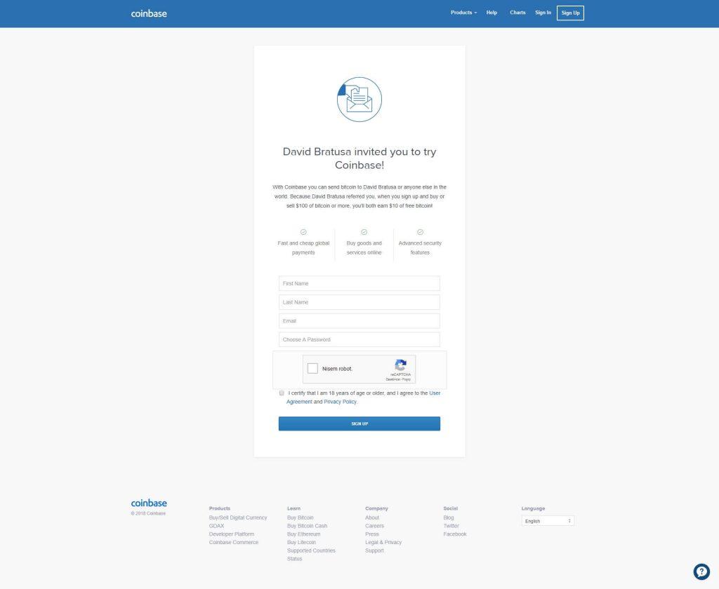 Coinbase registracija novega računa